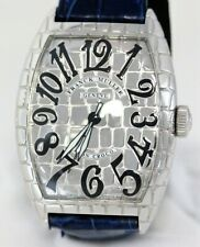 Franck Muller 8880SG Iron Croco Mens Watch Silver Dial From Japan [h0126]