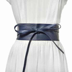 Women Synthetic Leather Waist Belt Fashion Lady Wide Stretch Corset Waistband