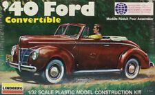 Lindberg 1:32 '40 Ford Convertible Plastic Model Kit #2120