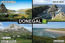 SOUVENIR FRIDGE MAGNET of COUNTY DONEGAL IRELAND GLENVEAGH MALIN HEAD ERRIGAL