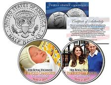 "PRINCESS ""CHARLOTTE of CAMBRIDGE"" WILLIAM AND KATE JFK HALF DOLLAR 2 COIN SET!"