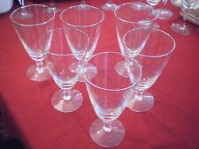 "FOSTORIA ENGAGEMENT WATER STEM GLASS GOBLET PLATINUM RIM 7"" SET OF 6"