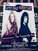 PAGE + PLANT Led Zeppelin rare US poster + The Tragically Hip  25 x 45 cm