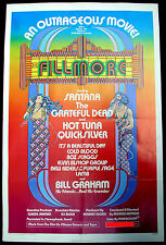 Fillmore 1972 Us One-Sheet Movie Poster Grateful Dead Psych Minty! Bill Graham