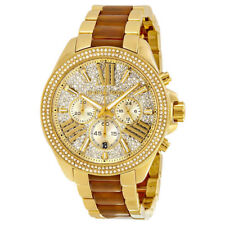 Michael Kors Women's Wren Two Tone Chrono Watch MK6294 NEW! 41.5mm $250.00 tag!