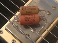 K40N-2a .015uf & .022 uf  400v RUSSIAN PAPER IN OIL CAPACITORS - NEW OLD STOCK