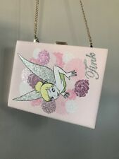 Primark Disney Tinkerbell Bag BNWT Hard Clutch Box Bag Princess Fairy Peter Pan
