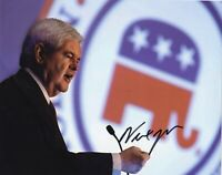 Newt Gingrich Signed  8x10 Photo w/COA Politician Speaker Of The House