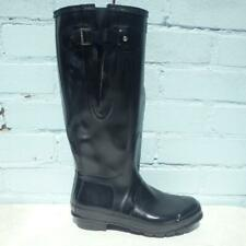 Hunter Wellie Boots UK 7 Eur 40 Womens Pull on Rubber Black Wellington Boots