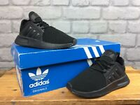 ADIDAS ORIGINALS UK 11K EU 29 BLACK X_PLR TRAINERS CHILDRENS BOYS GIRLS T