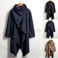Vintage Men's Long Sleeve 100%Cotton Coat Causal Outwear Tops Jacket Outwear UK