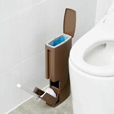 Bathroom Trash Can Plastic Toilet Brush Waste Bin Dustbin Bucket Cleaning Tools
