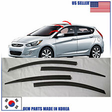 NEW SMOKED DOOR VISOR WINDOW VENT DEFLECTOR HYUNDAI ACCENT HATCHBACK 2012-2017