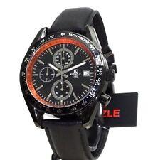 KIENZLEUhr Chronograph Schwarzes Armband Wasser abweisend 10BarW.R.