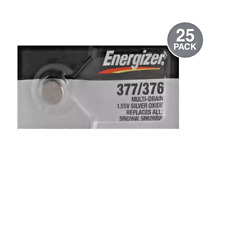 Energizer 377 / 376 1.5v 0%Hg Mercury Free Watch/Calculator Batteries (25 Pack)