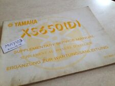Yamaha XS650 D XS 650 650XS 1T3 additif manuel atelier workshop manual éd. 76