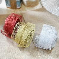 Glitter Lace Ribbon Xmas Tree Decor Christmas Wedding Party Ornament 200cm*5cm