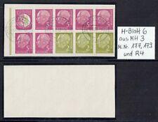 Bundesrepublik Heuss Mi. Nr. 177 / 179 / R4 H-Blatt 6 aus MH 3 oo aus 1956 (35)
