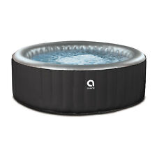 JLeisure Avenli 686 Liter 49 inch 3 Person Inflatable Round Hot Tub Spa, Black