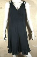 AFFINITES ARMAND THIERY Taille 42 Superbe robe chasuble noire black dress