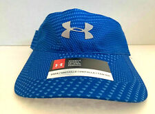 NEW! Under Armour Women's HeatGear Visor-Blue Printed/Reflective Silver OSFA