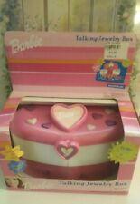 NEW Barbie For Girls Talking Jewelry Box pink heart vintage 2000 Mattel READ DES