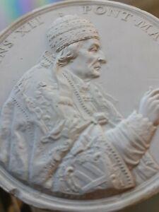 Vintage Pope Clemens XII papal Vatican Medallion. Cast plaster