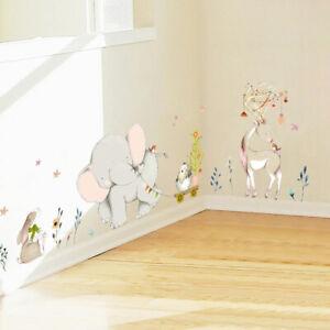 Animal Wall Stickers Kids Room Decoration Vinyl Wallpaper Baby Bedroom Cartoon