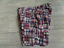 BROOKS BROTHERS madras PATCHWORK india 38 shorts plaid