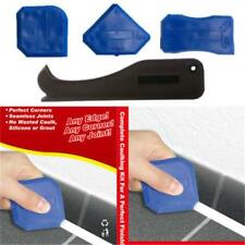 4Pc Pro Caulking Tool Kit Joint Sealant Silicone Grout Remover Scraper Corner JJ