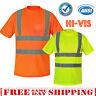 Hi Vis T Shirt ANSI Class 3 Reflective Tape Safety Short Sleeve HIGH VISIBILITY