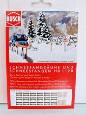 Busch 1120 - H0 - Schneefangzäune und Schneestangen - NEU in OVP