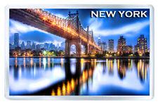 NEW YORK QUEENSBORO BRIDGE FRIDGE MAGNET SOUVENIR IMAN NEVERA