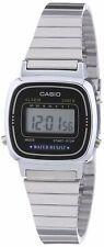 Orologio Originale Casio LA670WA-1 Donna Acciaio Crono Nero Sveglia Vintage