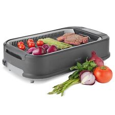 VonShef Smokeless Grill Indoor BBQ Barbecue Non Stick Machine Electric Table Top
