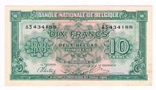 """10 Frank/Franc 2 Belgas type LONDON  """" BRUSSEL""""  SERIE 3   1943     LA#BFD-13"""