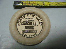 HONEY  DEW  DAIRY PHENIX  CITY  ALABAMA CHOCOLATE DRINK VINTAGE ORIGINAL