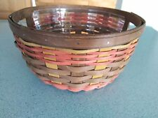 Longaberger 2016 Collector's Club Limited Ware basket & prot New fall colors