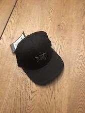 NWT Arc'teryx Embroidered Bird Baseball Hat Cap Black