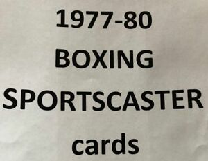 BOXING SPORTSCASTER cards $0.99 Each - MANY DIFFERENT 1977-1980