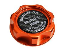 ORANGE MOBIL 1 M7-STYLE BILLET ENGINE OIL FILLER CAP FOR NISSAN INFINITI CF