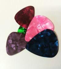 5 x Acoustic / Electric Guitar picks Thin flexible beginners plectrum (UK shop)