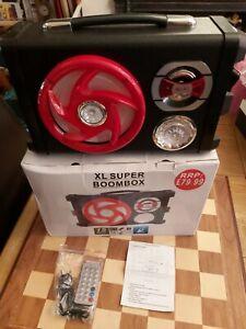 Boxed LX Super Boombox Hi-Fi Speakers - Remote Control & Instructions RRP £79.99