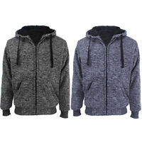 Mens Athletic Warm Ultra Soft Sherpa Lined Fleece Zip Up Sweater Jacket Hoodie