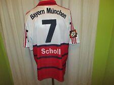 "FC Bayern München Adidas Auswärts Trikot 1998-2000 ""OPEL"" + Nr.7 Scholl Gr.L TOP"