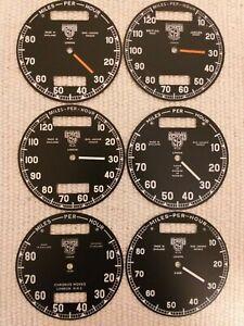 Smiths pre war & war time speedometer faces 80/120 miles.
