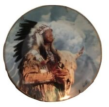 Paul Calle HEAR MY GREAT SPIRIT Indian FRANKLIN MINT Plate W/Certificate