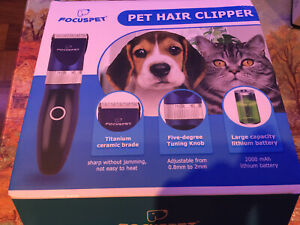 FOCUSPET HAIR CLIPPER/GROOMING SCISSORS  AND DETANGLING SPRAY AND DRY SHAMPOO