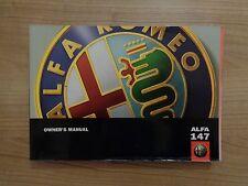 ALFA ROMEO 147 Proprietari Manuale/MANUALE 97-01