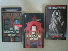 Ken Eulo Demonic Horror Trio: The Brownstone The Bloodstone The Deathstone - EUC